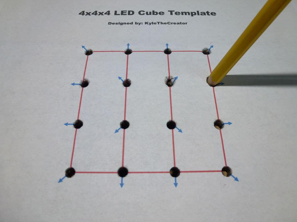 4x4x4 led küp yapımı