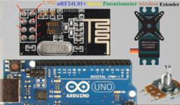 Arduino ile Nrf24l01 Kullanarak Potansiyometre ile Servo Kontrolü