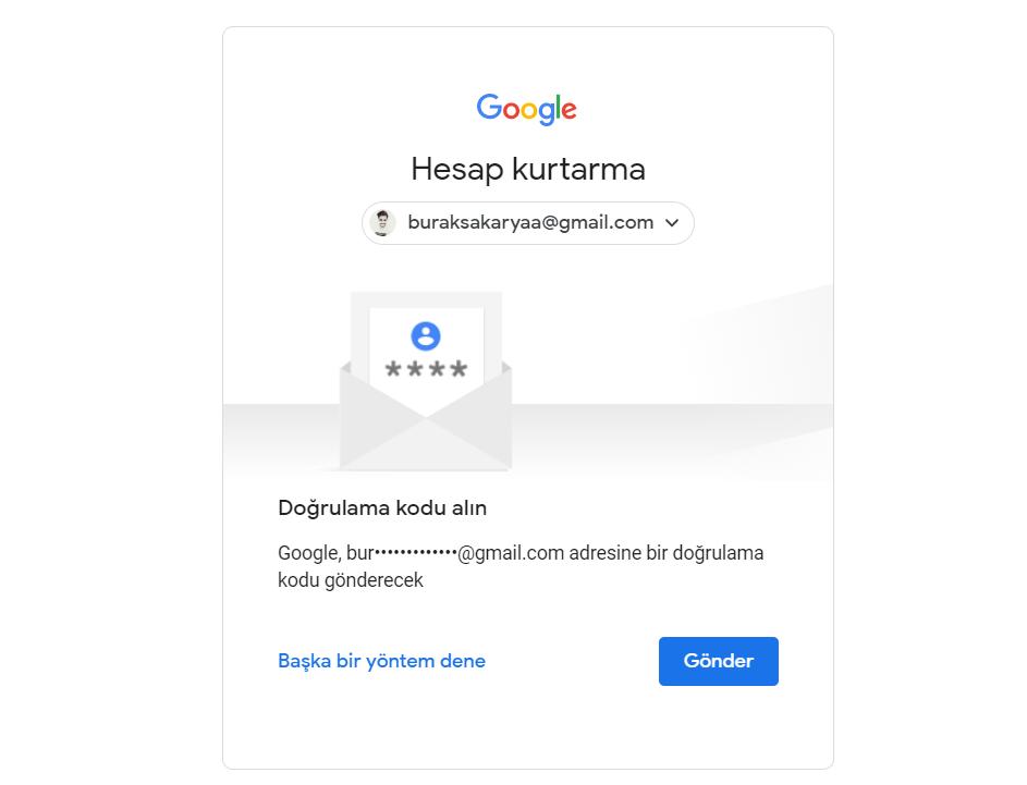 google hesabı kurtarma adımları 3