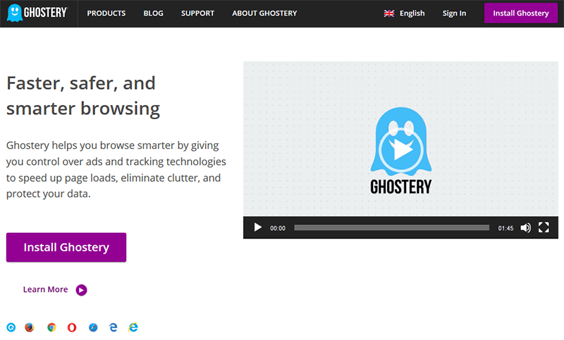ghostery reklam engelleyici