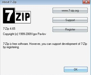 7zip dosya şifreleme programı