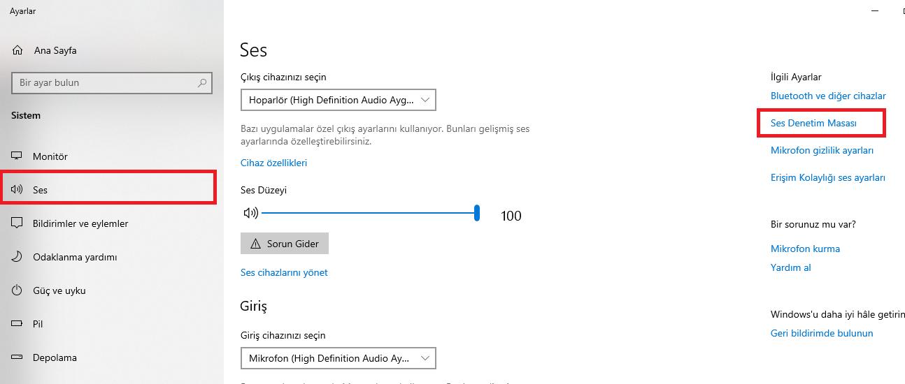 windows10-mikrofon-gürültü-engelleme-ses-ayarlari