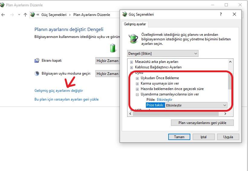 windows-10-otomatik-acılma-guc-secenekleri