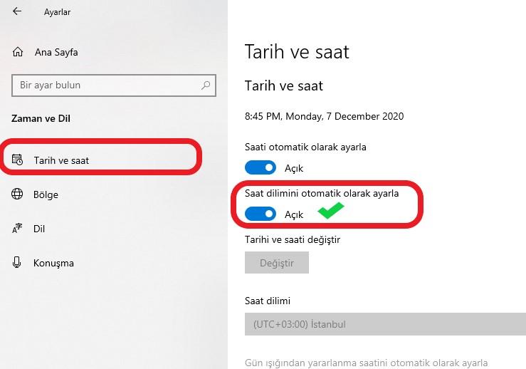 windows-10-otomatik-saat-ayarlama-tarih-saat