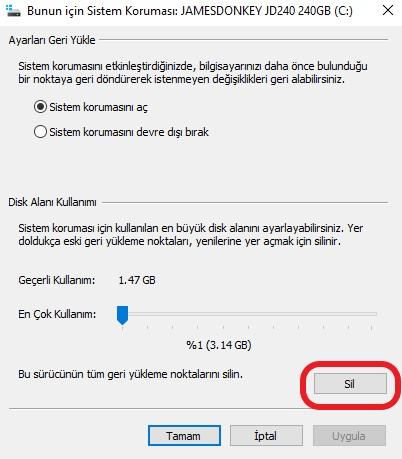 windows-10-sistem-geri-yukleme-silme-sistem-ozellikleri-sil